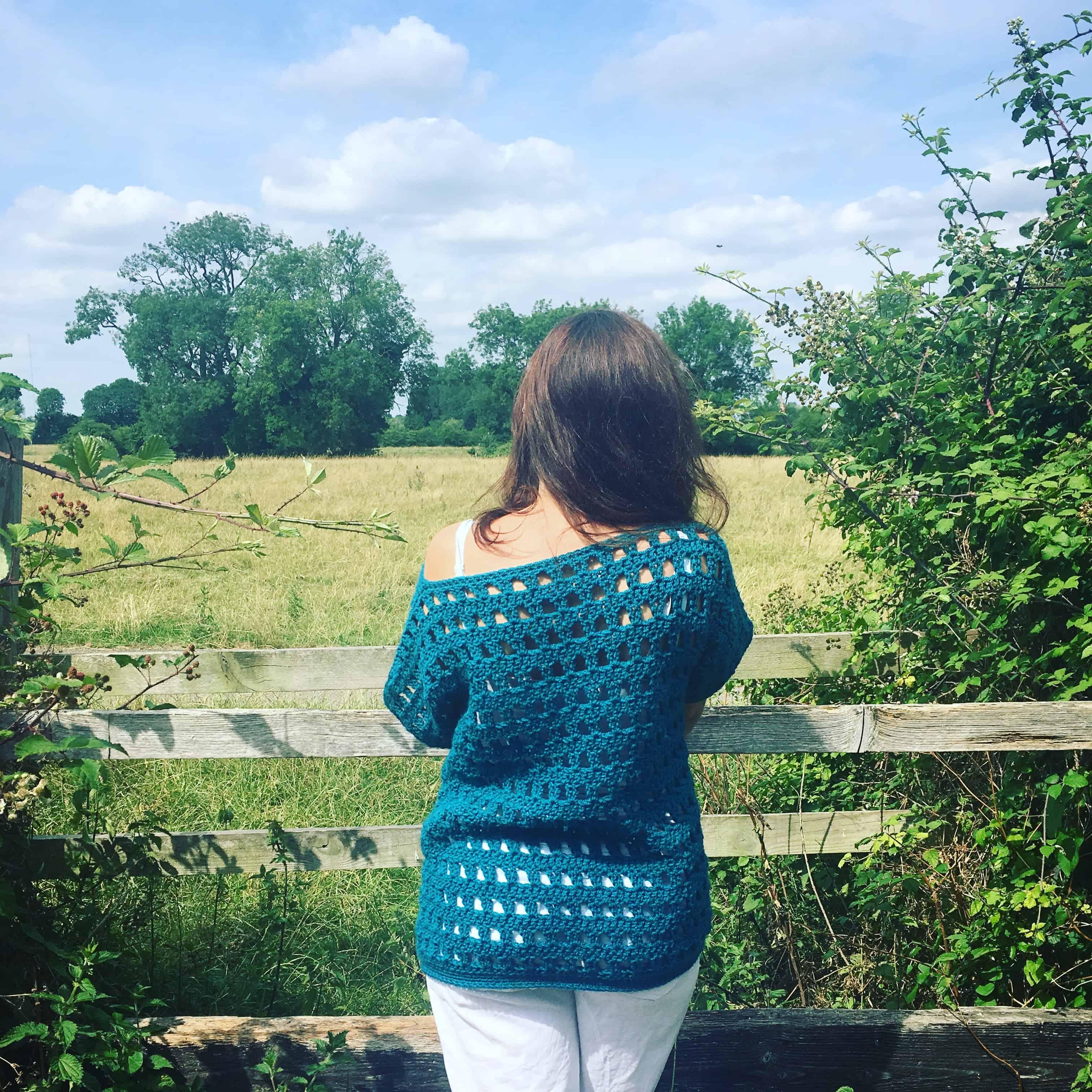 easy crochet jumper beginners columns short sleeves