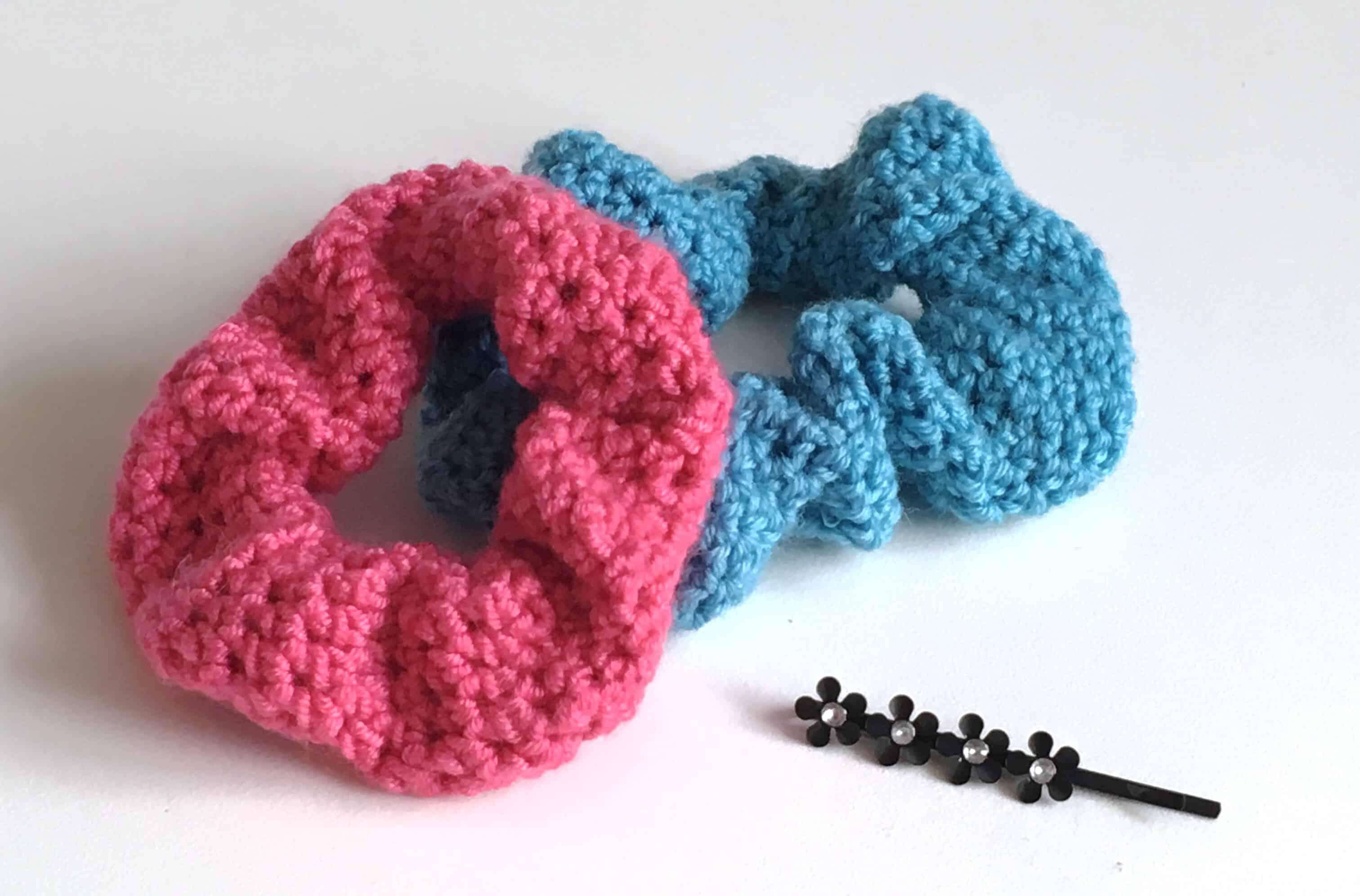 crochet scrunchie stashbuster