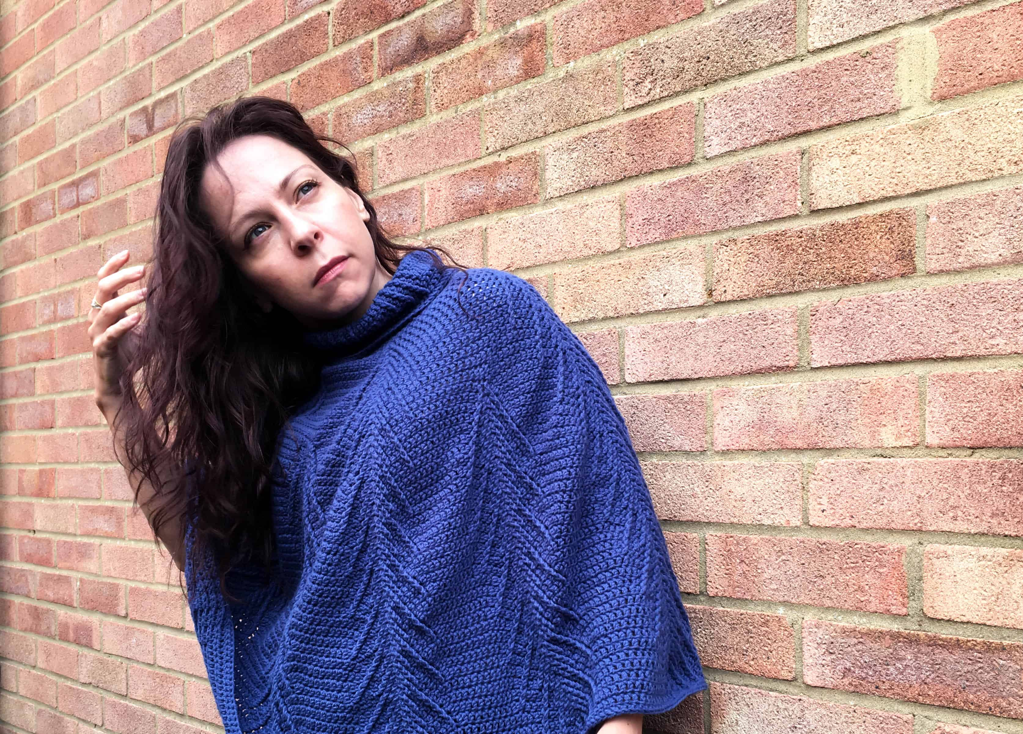 The Falling Pines Cabled Crochet Poncho - Dora Does
