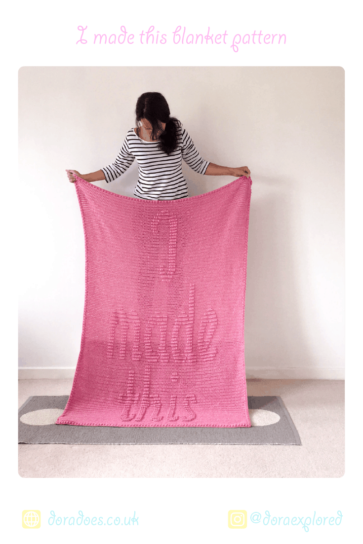 Crochet Blanket Pattern for makers from Dora Does