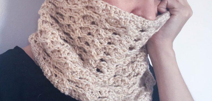 crochet cowl textured free pattern chunky lion brand