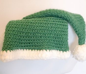 Crochet Elf hat with pom pom
