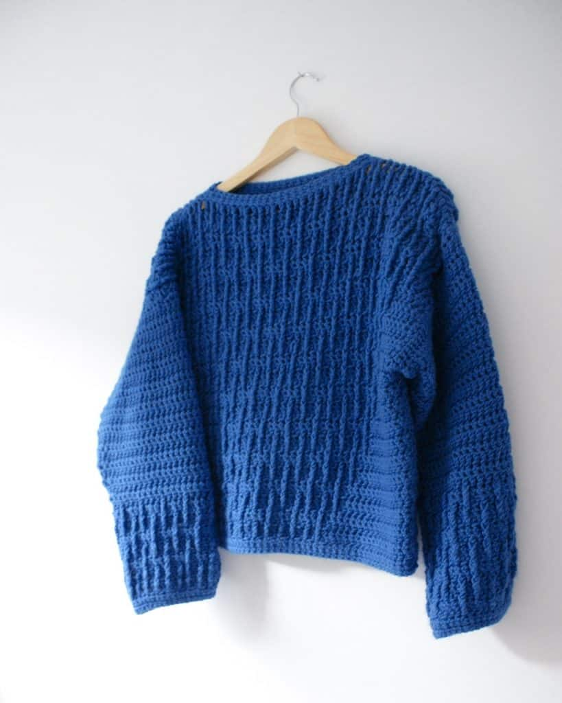 So What Free Oversized Chunky Crochet Sweater Pattern Dora Does
