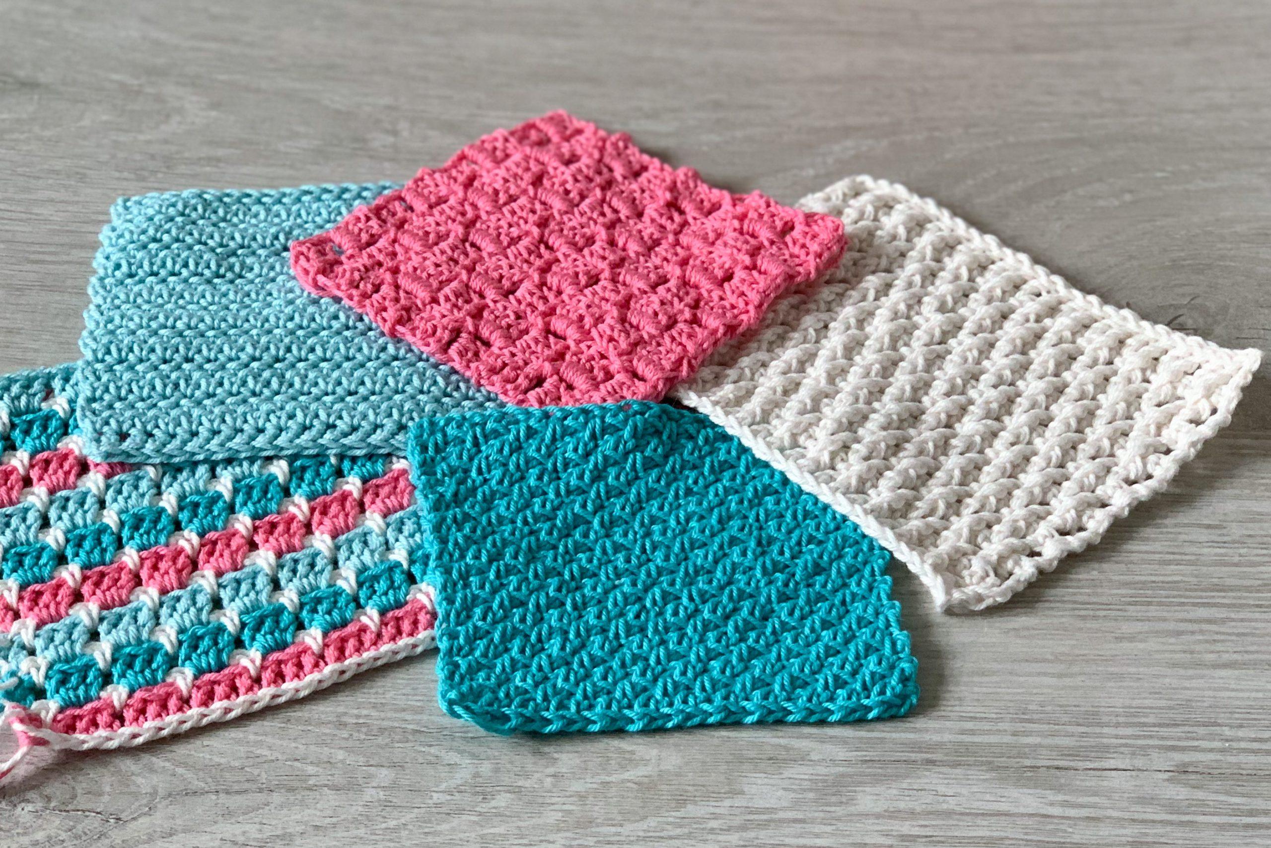 5 mindful crochet stitch swatches