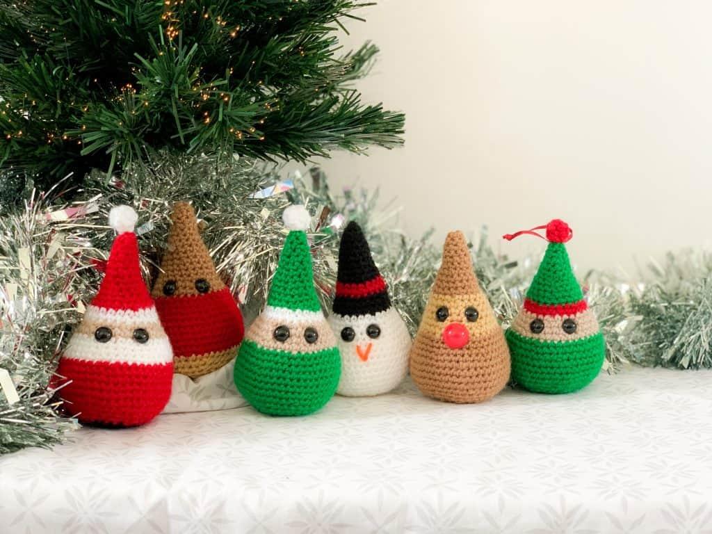 Festive Crochet Friends Christmas Decoration Pattern Dora Does