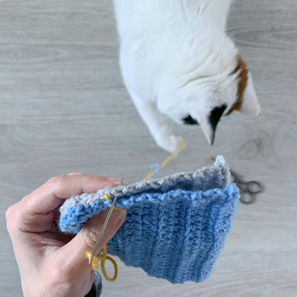 How To Seam Crochet Panels Using Mattress Stitch Dora Does